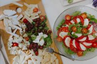 Kaboompics - Cheese, grape, italian caprese salad with mozzarella and tomatoes