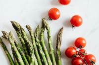 Asparagus & tomatoes