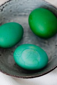 Kaboompics - Easter eggs painted green