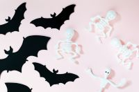 Halloween flat lays backgrounds