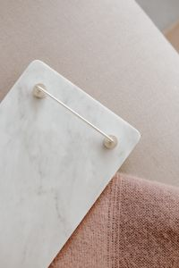 Kaboompics - Marble white tray with silver handles