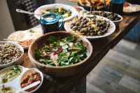 Kaboompics - Table with Lebanese Food