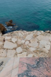 Kaboompics - Pink marble floor on the terrace at the seaside, Rovinj, Croatia