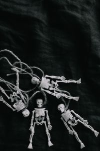 Kaboompics - Halloween - Human skeleton miniatures