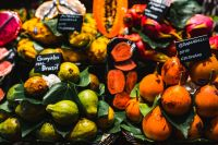 Kaboompics - Exotic fruits at the market of Boqueria in Barcelona, Spain