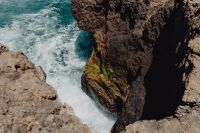 Cliff on the Western Seaboard of Algarve, Praia da Amoreira, Portugal