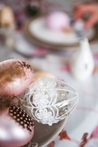 Kaboompics - Close-up of ornamental eggs on an easter table