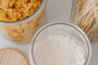 Kaboompics - Wheat flour and various pasta in jars