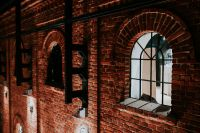 Kaboompics - Red brick wall with small windows