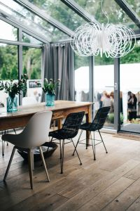 Kaboompics - Modern interior with dining table and chairs