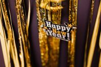 New Year's Eve party - shiny golden decorations