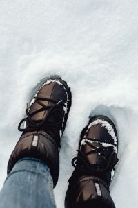 Kaboompics - Winter boots in the snow - Moon Boots