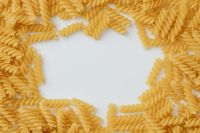 Kaboompics - Fusilli pasta with copy space