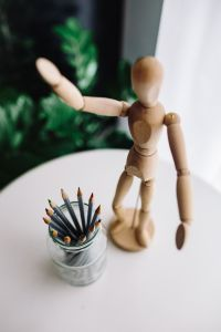 Kaboompics - Wooden mannequin in various poses