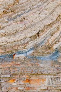 Colourful rock layers at the Adriatic Sea, Izola, Slovenia