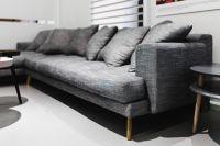 Kaboompics - Grey long sofa with pillows