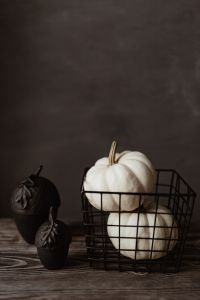 Dark mood home decorations with pumpkin
