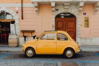 Kaboompics - Classic Fiat 500 car parked on the street in the town of Trieste, Italy