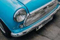 Kaboompics - Old blue Mini Cooper