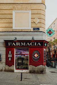 Kaboompics - An old-fashioned pharmacy with an antique window in Madrid