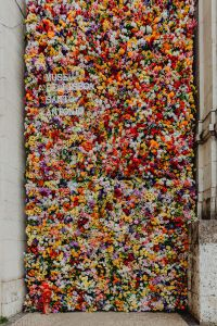Kaboompics - Fest Santo Antonio - Various color flower background wall - Museu de Lisboa, Lisbon, Portugal
