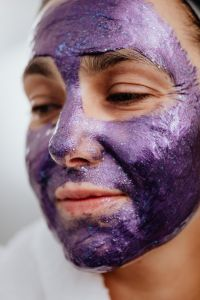 Kaboompics - Woman with facial skincare mask