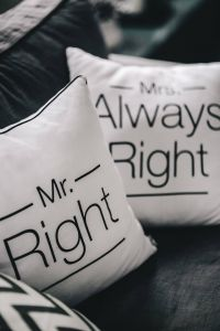 Kaboompics - Mr Right and Mrs Always Right Pillow