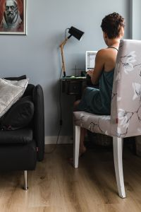 Kaboompics - Businesswoman entrepreneur working on laptop from home office space