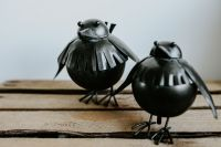 Kaboompics - Little black birds decoration