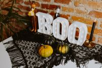 Halloween decorations with Boo Letters