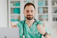 Kaboompics - Doctor with stethoscope in the office