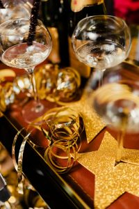 Kaboompics - New Year's Eve party - closeup of champagne in glass