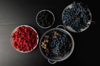 Grapes, blackberries and raspberries