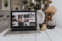Kaboompics - Apple MacBook & Coffee on the white desk
