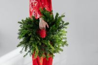 Kaboompics - Woman with Christmas Wreath
