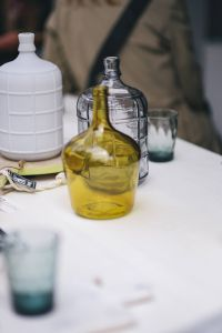 Kaboompics - Yellow decorational bottle on a table