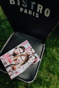 Kaboompics - Fashion magazine on a chair