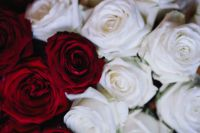 Kaboompics - White And Red Roses Bouquet