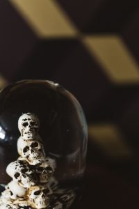 Kaboompics - Water Globe with Skulls