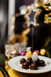 New Year's Eve party - chocolate pralines