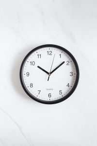 Kaboompics - Clock on White Background