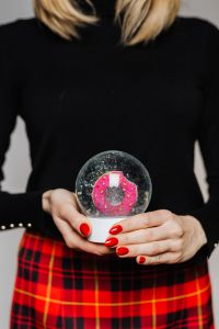 Kaboompics - Woman in Black Turtleneck Holds a Christmas Glass Ball