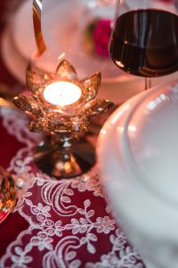 Kaboompics - Table Decorations for Valentine: Tealight Candle