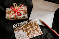 Kaboompics - Christmas wishes card & gift