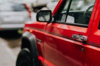 Kaboompics - Old red Jeep Cherokee