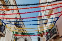 Kaboompics - Streets decorated for the Saint Anthony Feast in Lisbon, Portugal