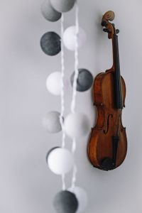 Kaboompics - Violin on a white wall