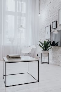 Kaboompics - Living Room With Scandi Interior Design, Un'common Marble Table