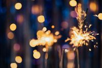 Kaboompics - New Year's Eve - blue background bokeh