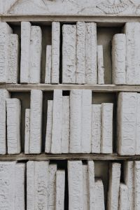 Kaboompics - Ancient Greek writings made of stone